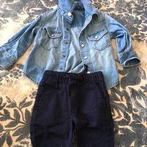 Gap Jean jacket and Ben Sherman pants